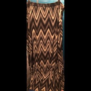 Gray, black, khaki Maxi Skirt (3x)